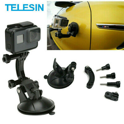 £7.49 • Buy TELESIN Car Suction Cup Adapter Mount Tripod For GoPro DJI Osmo Action SJCAM