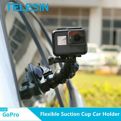 £10.39 • Buy TELESIN Suction Cup Car Mount Holder Flexible For GoPro Hero DJI Osmo Action