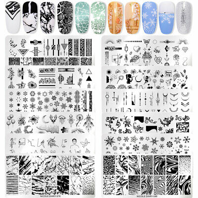 $1.39 • Buy NICOLE DIARY Nail Stamping Plates Christmas Water Ink Flower Nail Art Stamp Tool