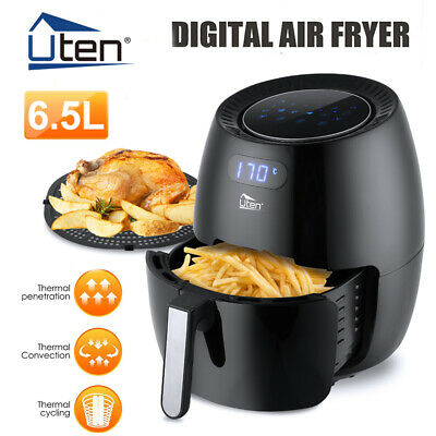 View Details Uten Air Fryer Low Fat Healthy Cooker Oil Free Frying Chip Digital Display 6.5L • 59.99£