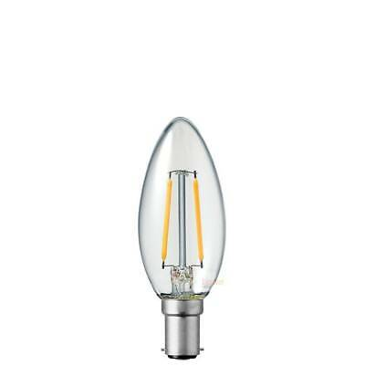 AU7 • Buy 2W Candle Dimmable Small Bayonet Cap LED Filament Light Bulb B15 2700k WarmWhite