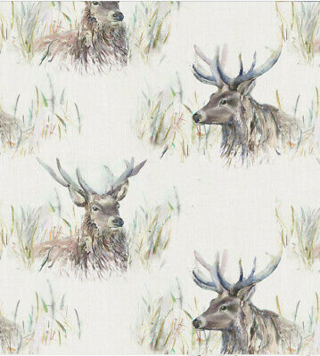 Wallace Stag 100% Cotton Fabric Voyage Curtains Cushions Crafts • 19.99£