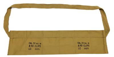 $16.95 • Buy WWII US Army Cotton Cloth Bandolier For M1 Garand Cotton Cloth Cover