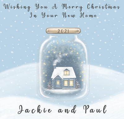 £2.79 • Buy Handmade Personalised First Christmas In New House Home Card