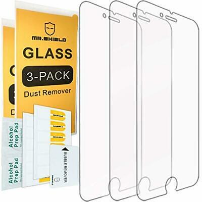 $7.87 • Buy Mr.Shield Screen Protector 3 Pack For IPhone 7 Plus 8 Plus Safe Tempered Glass