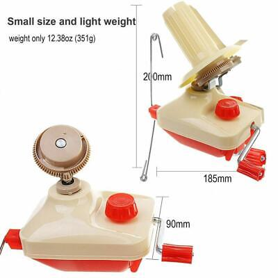 Hand Operated Yarn Winder Knitting Fiber Wool String Ball Thread Machine • 17.99£