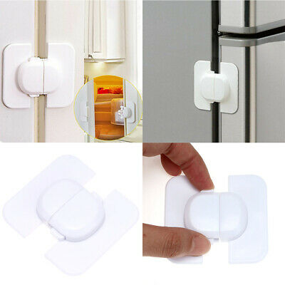 AU6.59 • Buy 2X Baby Safety Door Lock Cupboard Fridge Cabinet For Kids Child Prevent Clamping