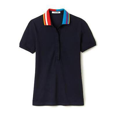 Lacoste Womens Abyssal Blue Slim Fit Polo In Stretch Mini Pique • 54.50£