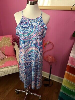 $69 • Buy Lilly Pulitzer NWT Billie Ruffle Dress Happy As A Clam 🦩 $98