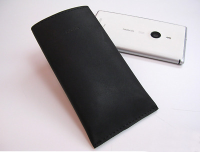 AU5.82 • Buy Genuine Official Nokia Lumia 925 CP-620 Leather Pouch Case NEW – Black