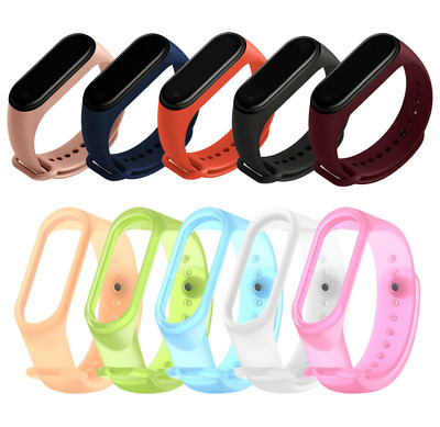 $0.85 • Buy For Xiaomi MI Band 4 3 Strap Replacement Bracelet Silicone Wristband Watch Band