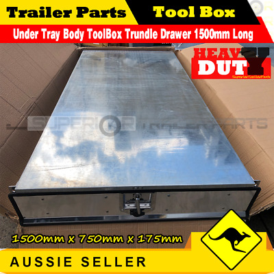 AU590 • Buy Under Tray Body ToolBox Trundle Drawer 1500mm Long UTE Drawer Truck ToolBox