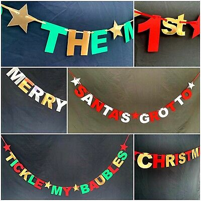 Christmas Xmas Father Elf  Banner Bunting Party Deco Santas Grotto On The Shelf  • 3.99£