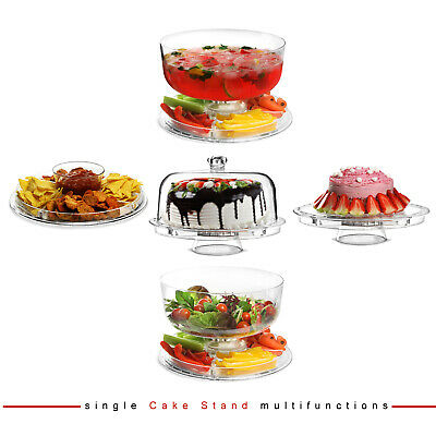 £13.95 • Buy Cake Stand Dome Multifunctional 5 IN 1 Modern Design Salad Bowl Plastic Cover