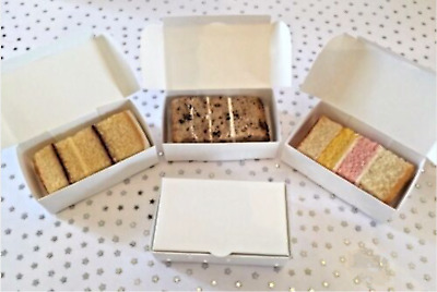 £7.69 • Buy 20/40/60 SINGLE CAKE SLICE White Party Wedding Favour Boxes FROM £3.59 - Inc P&P