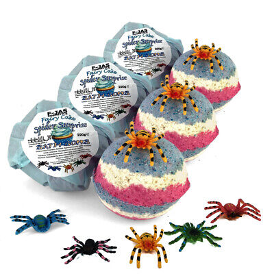 £24.99 • Buy Spider Surprise Toy Fairy Cake Scented Bath Bomb For Kids TRIPLE PACK