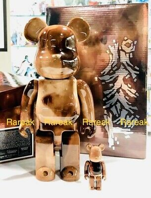 $294.99 • Buy Medicom Be@rbrick 2019 Pushead #4 Marble Pattern 400% + 100% Bearbrick Set 2pcs