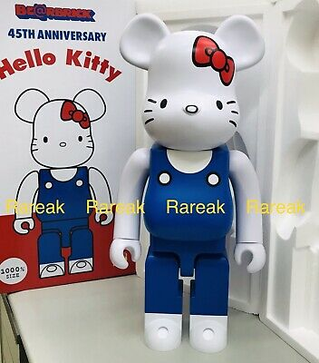 $999.99 • Buy Medicom Be@rbrick Sanrio Hello Kitty 45th Anni. 1000% 70's Milky Bearbrick