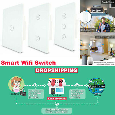 3 Ways Smart Wifi Multi-Control Wall Light Touch Switch For Alexa Google Home • 24.68$