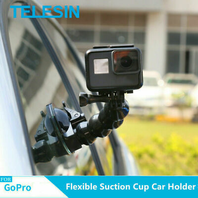 £9.59 • Buy TELESIN Suction Cup Car Mount Holder Flexible For GoPro Hero 9 8 7 6 5 DJI Osmo