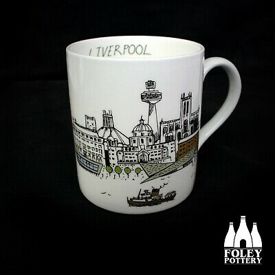 GB: Liverpool, Skyline, Albert Docks, Inspired Bone China Mug By Foley Pottery  • 16.95£