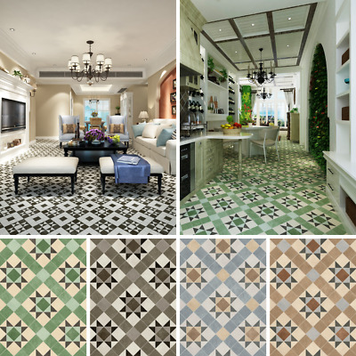 £0.99 • Buy Vinyl Flooring Kitchen Lino Roll Victorian Patterned Tile Effect Cushioned Sheet