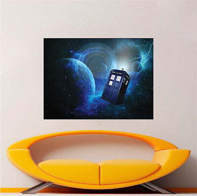 Doctor Who Wallpaper Decal Sticker Time Travel Show Tardis Door Decal Cling, S73 • 29.28£