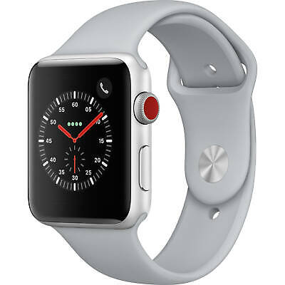 $ CDN422.58 • Buy Apple Watch Series 3 42mm GPS And Cellular Silver Case Fog Sport Band MQK12LL/A