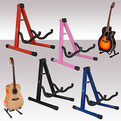 $ CDN13.94 • Buy Free Standing Folding Metal Acoustic Electric Universal A Frame Guitar Stand