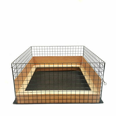 Puppy Dog Whelping Box Play Pen Folding Fence Door Gate Welping Pig Rails Cage • 75.95£