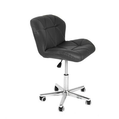 Swivel PU Leather Chair Stool With Wheels For Manicure Nail Art Spa Beauty NEW • 38.99£
