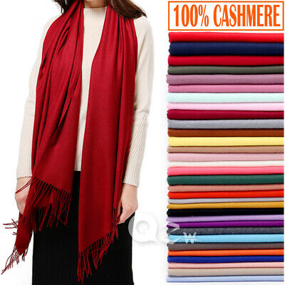 $11.99 • Buy Womens Mens 100% Cashmere Scotland Oversized Blanket Wool Scarf Shawl Wrap Solid