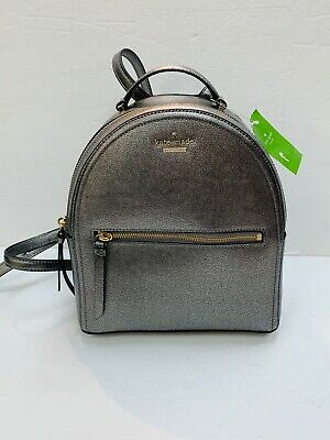 $ CDN127.53 • Buy Kate Spade Patterson Avenue Sammi Leather Backpack Pewter WKRU5647 NWT