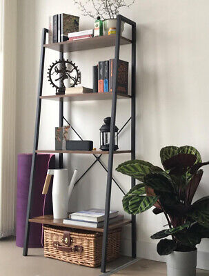 £49.80 • Buy Vintage Industrial Bookcase Tall Display Storage Shelving Unit Furniture Stand