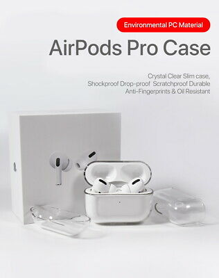 AU8.99 • Buy Apple AirPods Pro Case Cover Crystal Clear Hard Transparent Holder AirPods Case