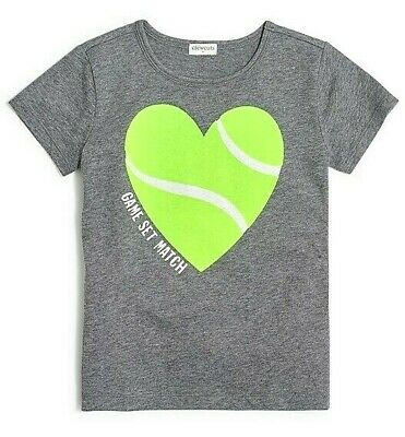 £7.27 • Buy NWT Crewcuts J CREW Girls Collectible Tee Top T-shirt Heart Tennis Size 3 Or 4-5