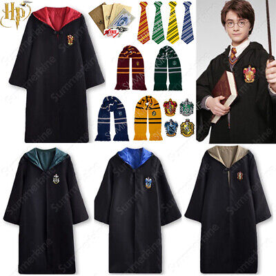 Harry Potter Gryffindor Cape Cloak Tie Halloween Cosplay Party Costume COS Xmas • 14.49£