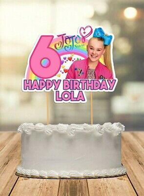 AU12.50 • Buy Jojo Siwa Personalised Cake Topper Kids Party Decoration Die Cut