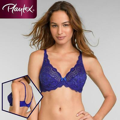 Playtex Flower Elegance Full Cup Underwired Bra P5832 Intense Blue • 19.99£