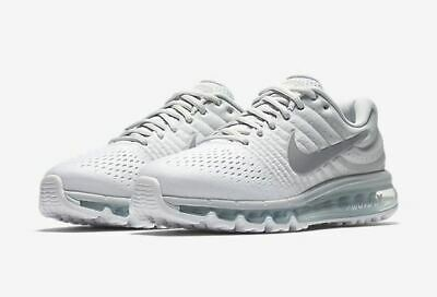 $119.99 • Buy Nike Air Max 2017 Mens Running Shoes 849559 009 Pure Platinum Grey White 8 9 10