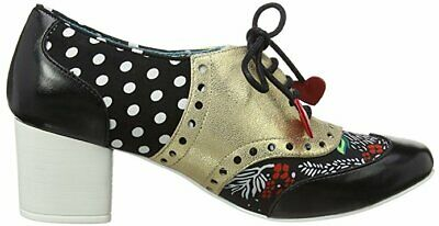 Poetic Licence By Irregular Choice 'Clara Bow' (K) Black / Pewter Mid Heel Shoes • 39.99£