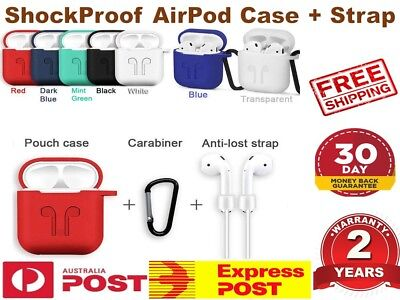 AU12.30 • Buy Strap Holder & Silicone Case Cover Skin For Apple Airpod Accessories Airpods AUS
