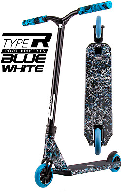AU249 • Buy Root Industries Type R Complete Scooter - Blue White - Bonus Stand