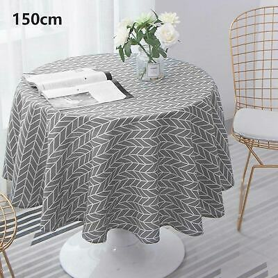 £7.69 • Buy 150cm Round Bright Table Cloth Cotton Linen Household Garden Dining Tableware UK