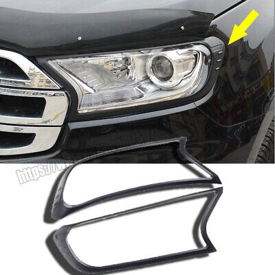 Front Headlight Lamp Guard Protector Cover Trim For Ford Ranger Everest 15-2019 • 62.99$