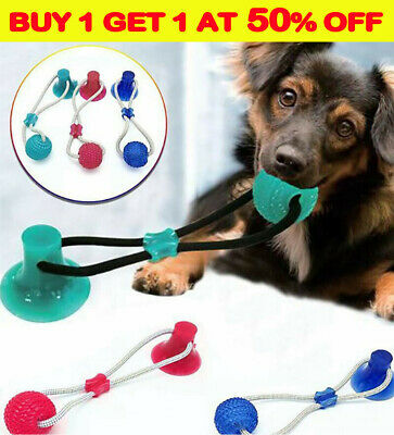 AU14.03 • Buy Suction Ball Pup Tug Toy Multifunction Pet Molar Bite Teeth Cleaner Chewing R