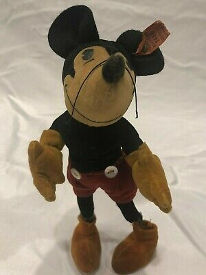 $1300 • Buy STEIFF  MICKEY MOUSE  DOLL WITH BUTTONS 1930's Disney