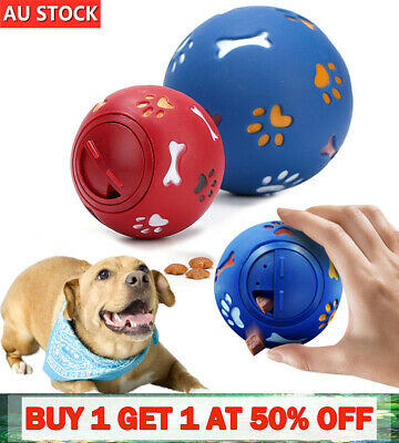 AU6.59 • Buy Dog Cat Pet Puzzle Toys Tough-Treat Ball Mental Food Dispenser Interactive PlayR