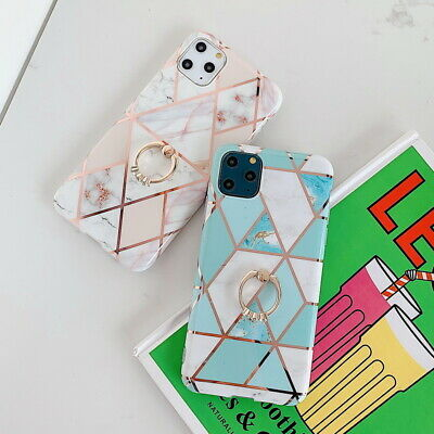 $ CDN5.97 • Buy Metal Finger Ring Marble IMD Soft Silicone Phone Case Cover For Cellphone