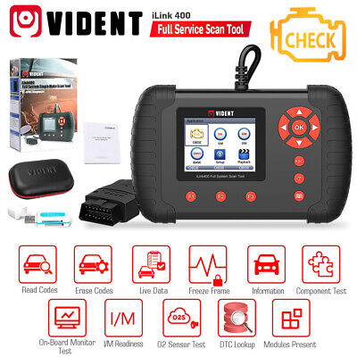 VIDENT ILink400 Full System Diagnostic Tool OBD2 Code Reader Scanner Oil Reset • 158.95$